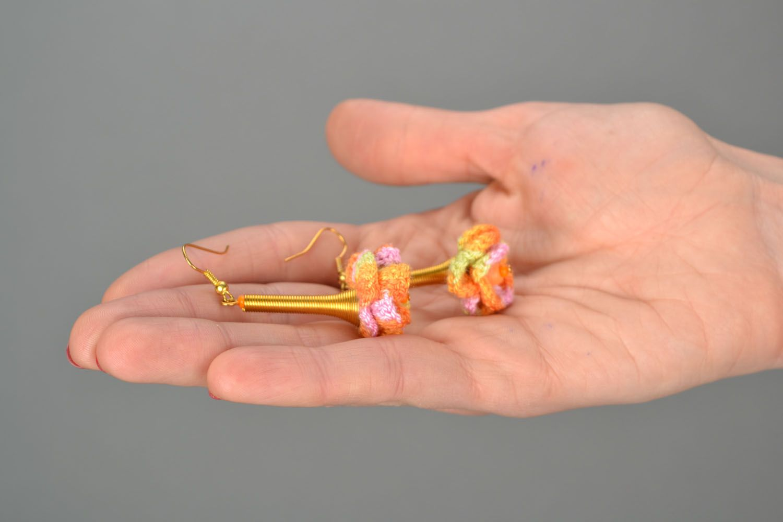 Crochet earrings Joy photo 2