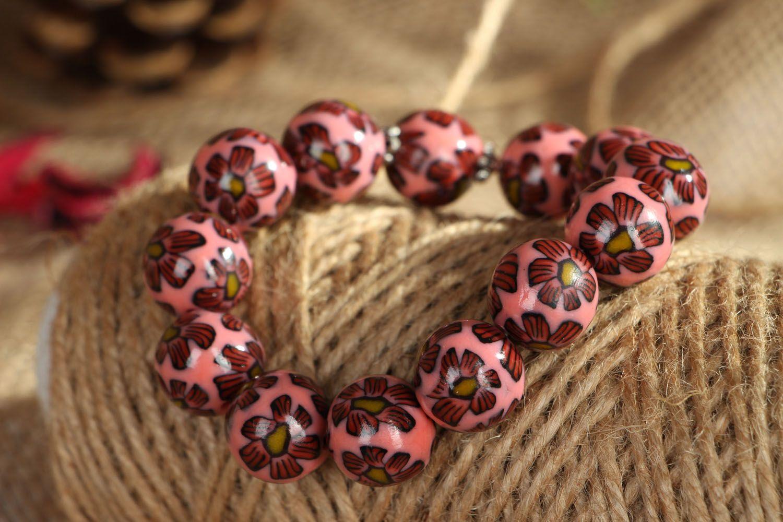 Polymer clay bracelet Pink Dream photo 5