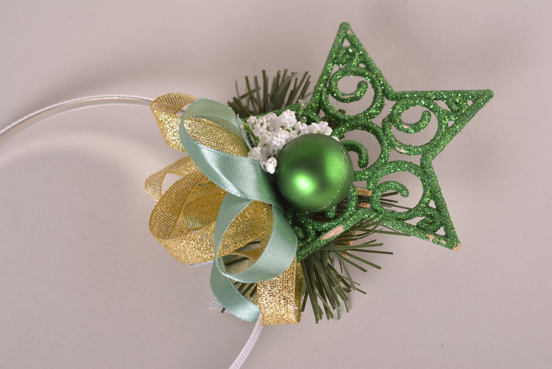 las diademas, coronas, bandas para el pelo Corona para el pelo navideña hecha a