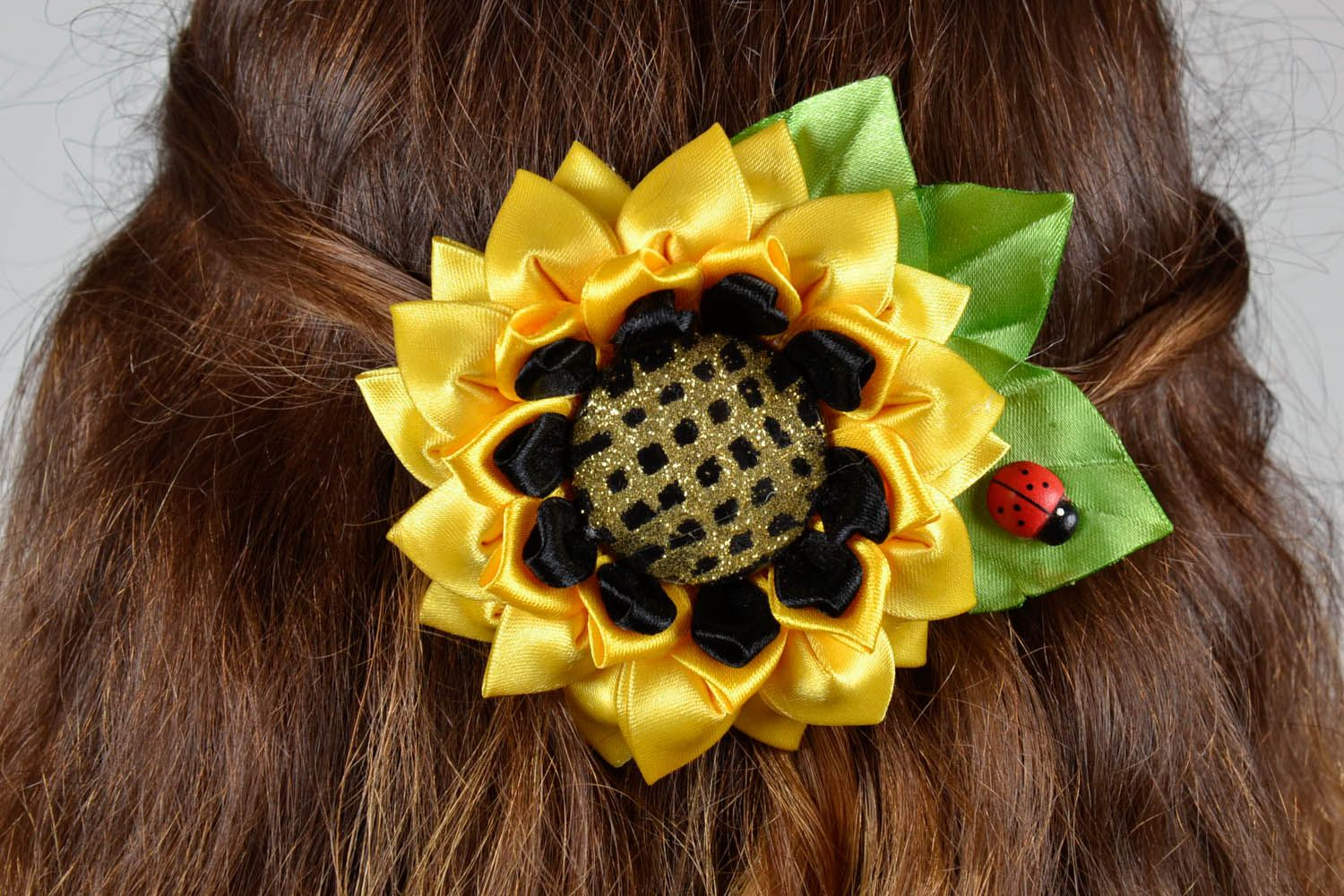 Hair clip Sunflower photo 5