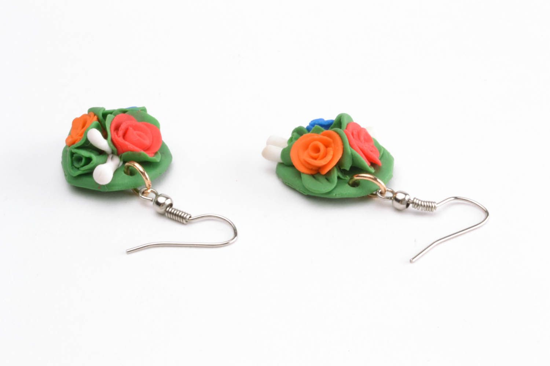 Polymer clay earrings photo 2