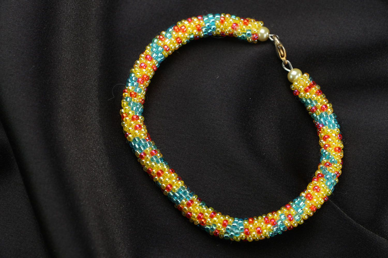 Künstlerisches Armband aus Glasperlen foto 1