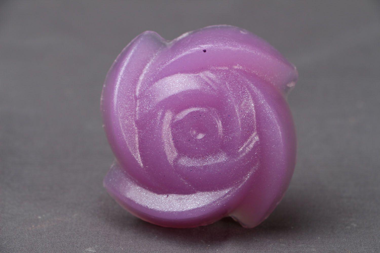 Beautiful flower-shaped soap photo 1