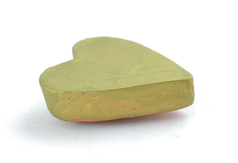 Ceramic fridge magnet in the shape of lime heart photo 3