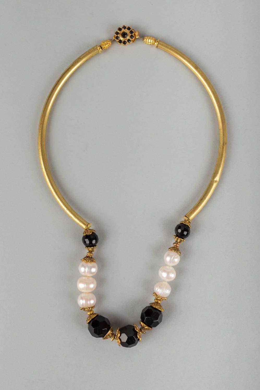 33ac1da0b714 collares de piedras naturales Collar con piedra natural ágata con perlas  hecho a mano elegante y
