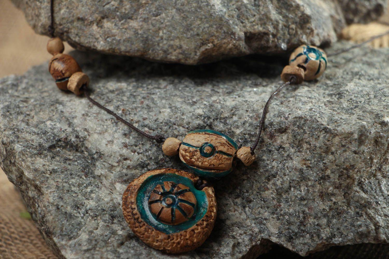 Ceramic amulet pendant photo 5