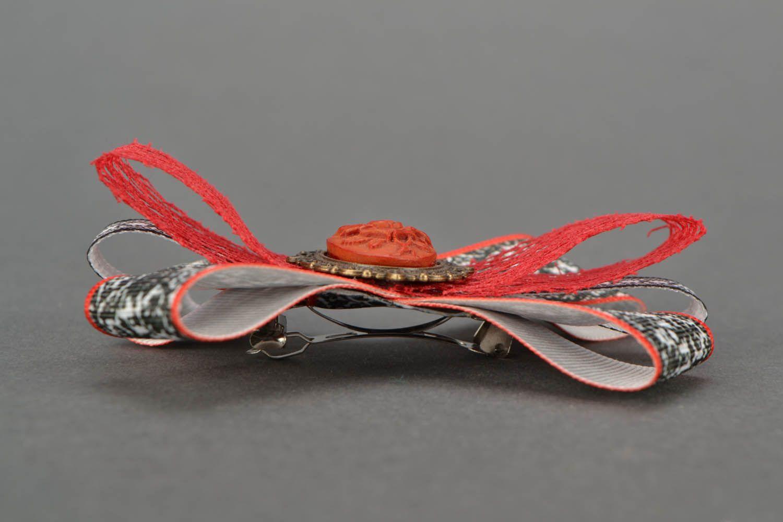 Hair clip Bow with Camellia photo 5