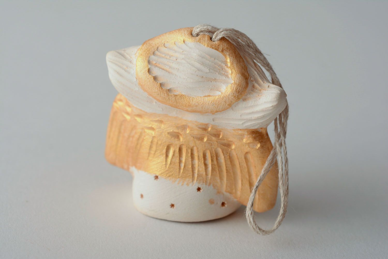 Handmade ceramic bell Angel photo 5