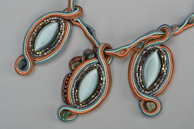 Handmade soutache necklace photo 3