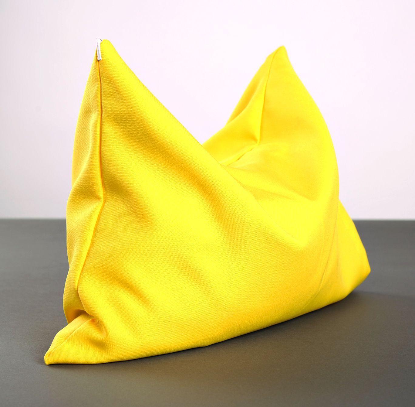 Yellow pillow for yoga photo 5