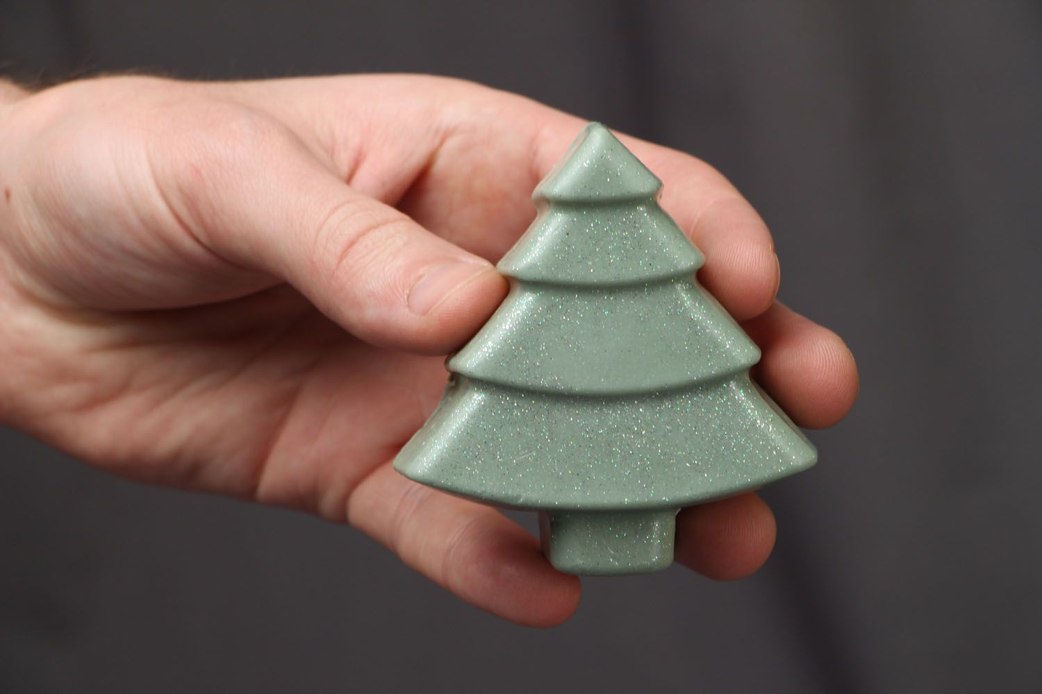 Beautiful soap in the shape of fir tree photo 3