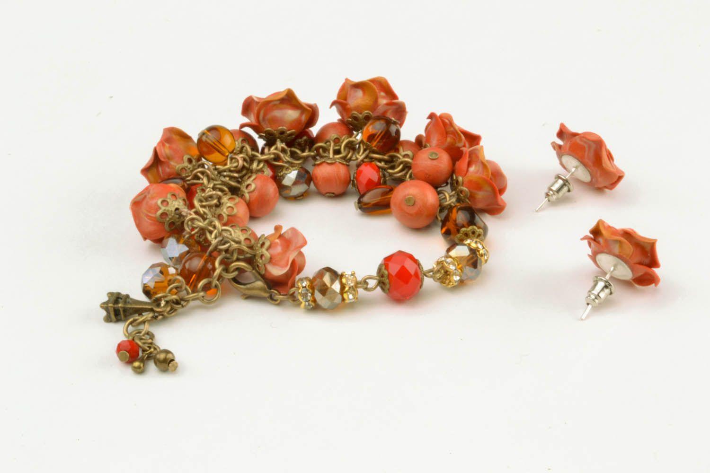 Set of polymer clay jewelry photo 3