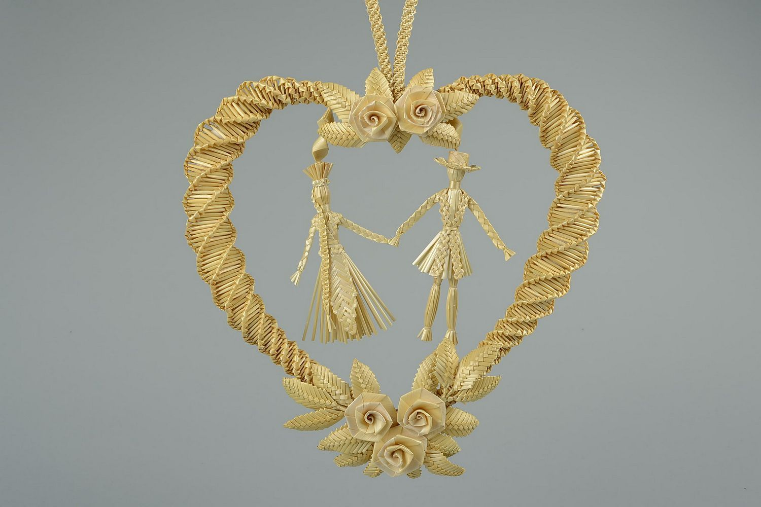 wedding accessories Woven wedding straw charm - MADEheart.com