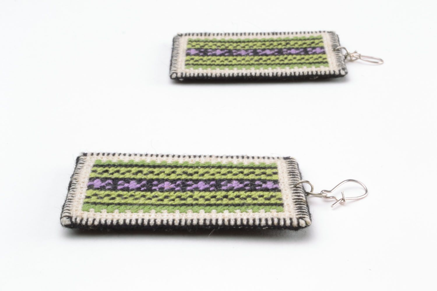 Earrings with embroidery photo 4