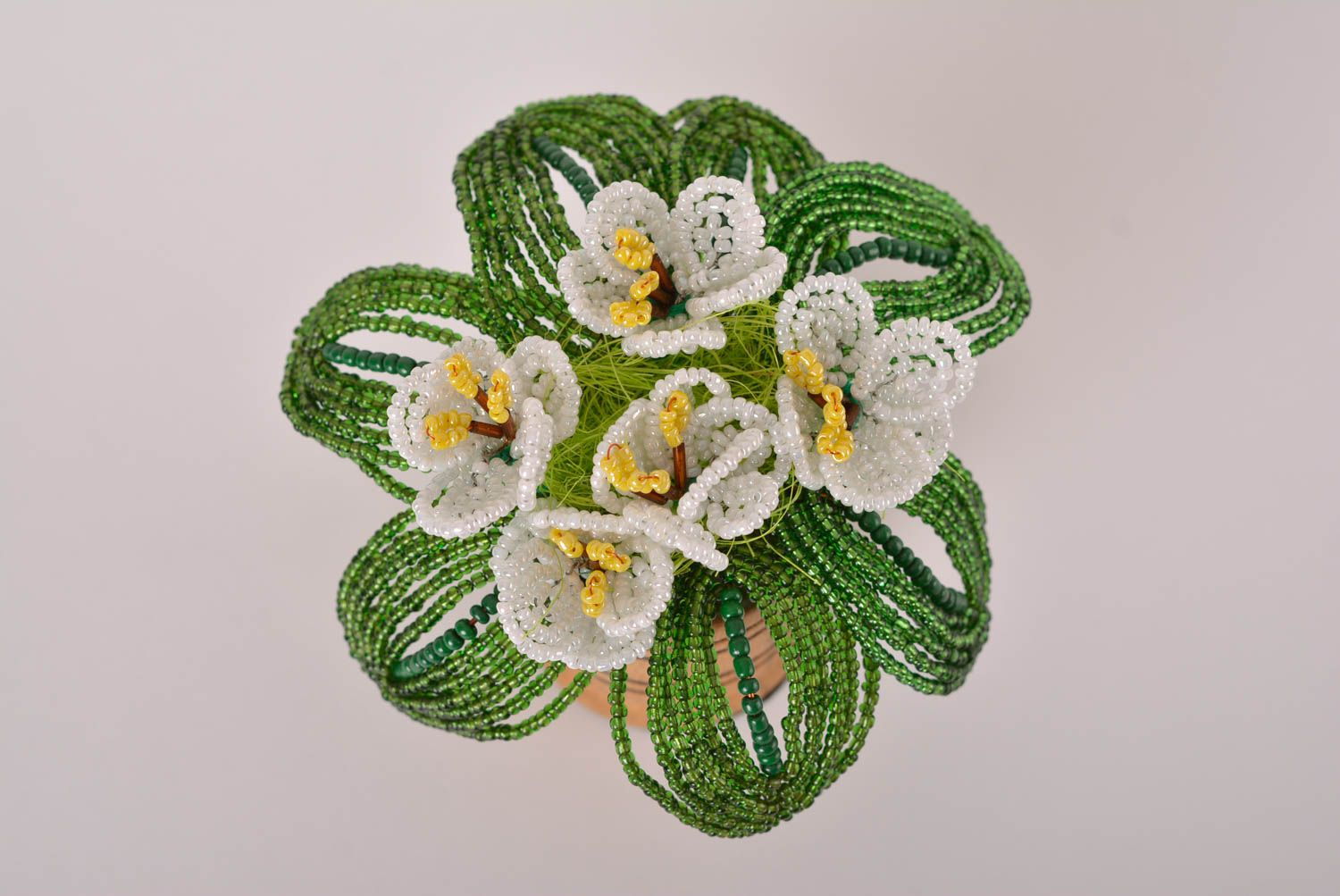 Beaded flowers handmade artificial flowers for decorative use only cool gifts photo 4