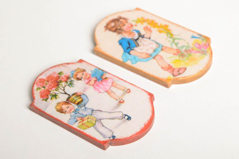 Decoupage fridge magnet elegant handmade kitchen decor decorative use only photo 5