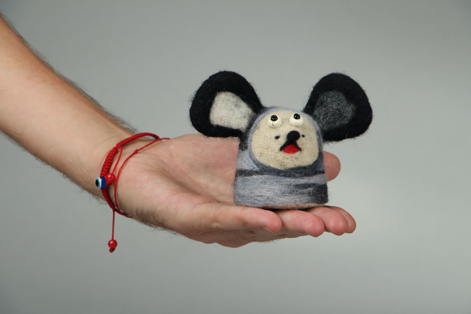 Toy made of felted wool Doggie photo 4