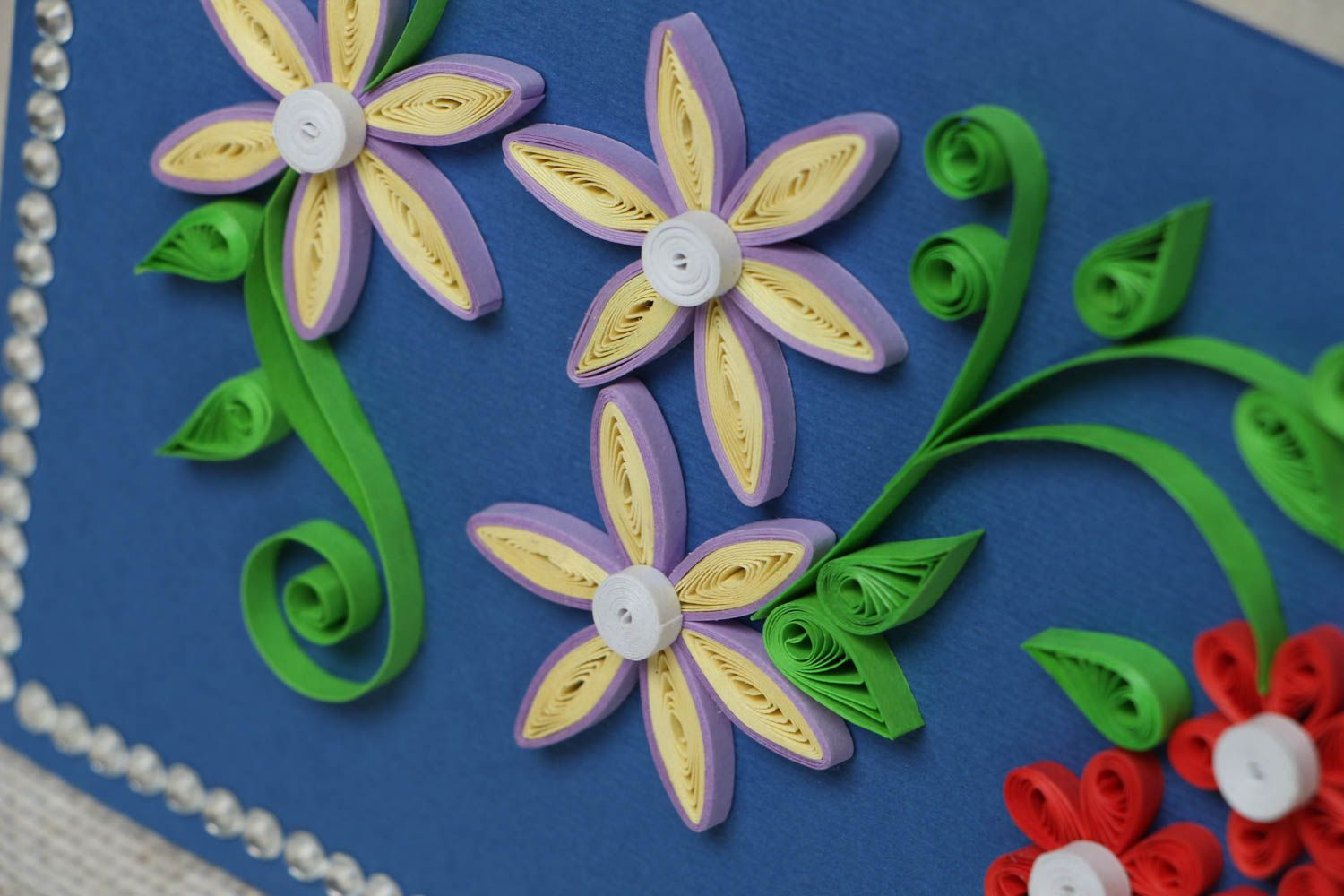 Handmade quilling greeting card photo 2