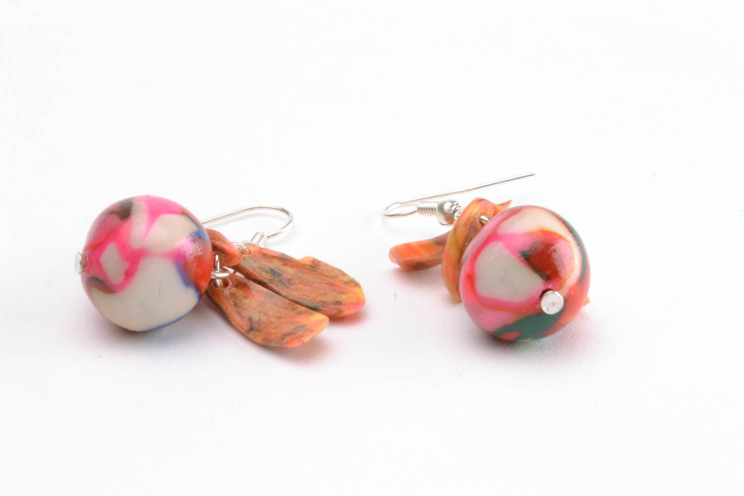 Colourful earrings with charms photo 3