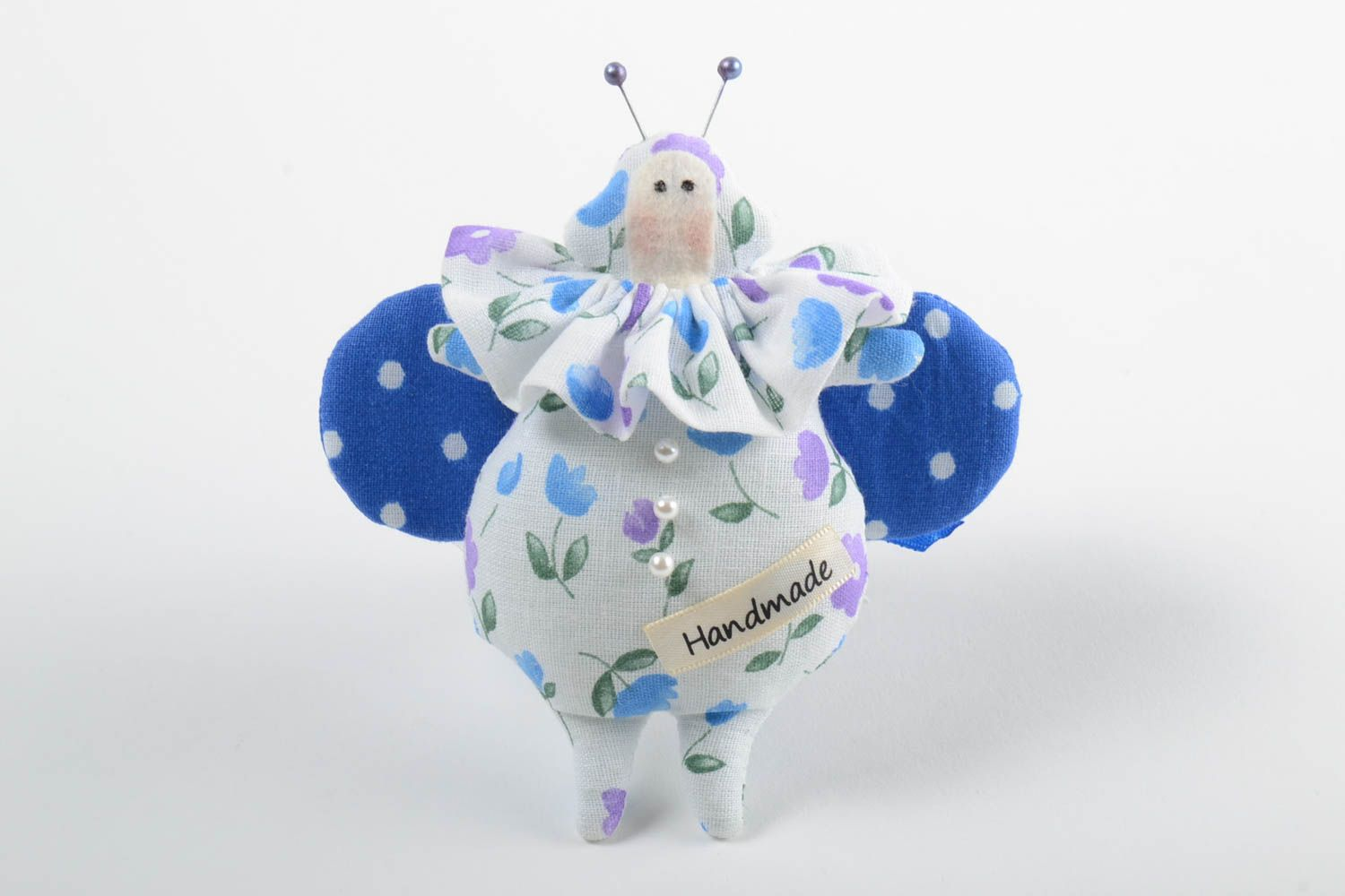 Beautiful homemade fabric toy stuffed soft toy collectible rag doll gift ideas photo 2