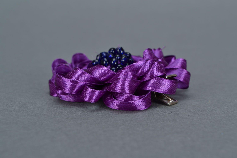 Violet hair clip photo 5
