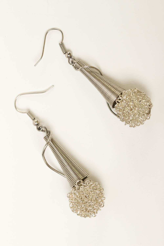 Stylish handmade metal earrings metal jewelry designs fashion trends for girls photo 2