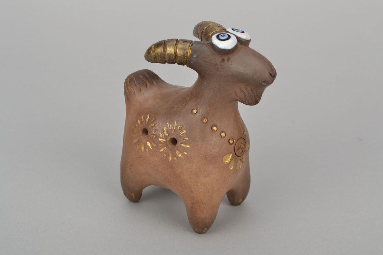 Clay whistle Goat photo 3