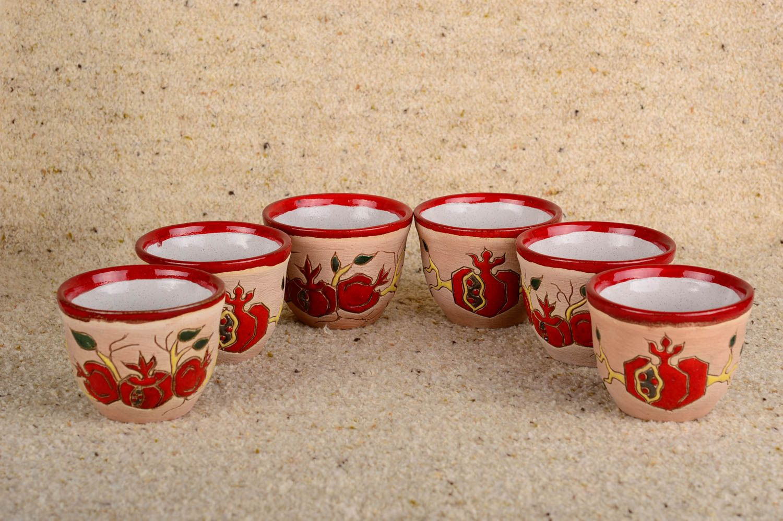 madeheart keramik becher handgemacht dekoration f r k che bunt geschirr aus ton 6 st ck. Black Bedroom Furniture Sets. Home Design Ideas
