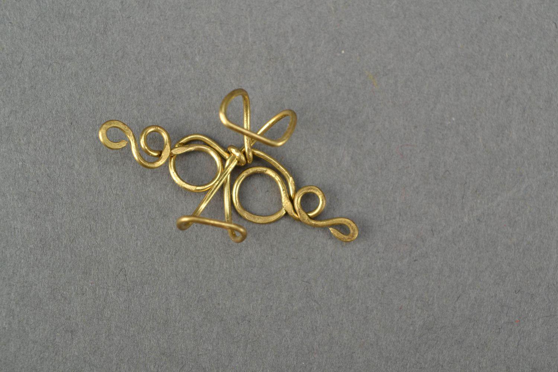 Latten wire wrap ear cuff Curl photo 4
