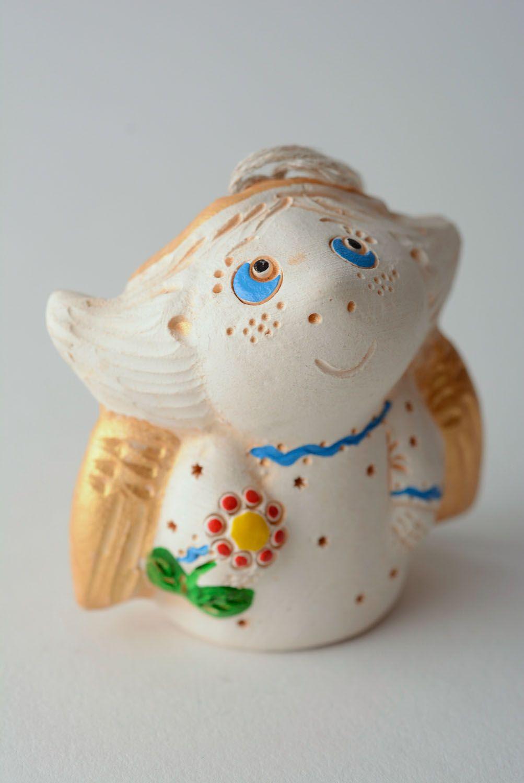 Handmade ceramic bell Angel photo 1