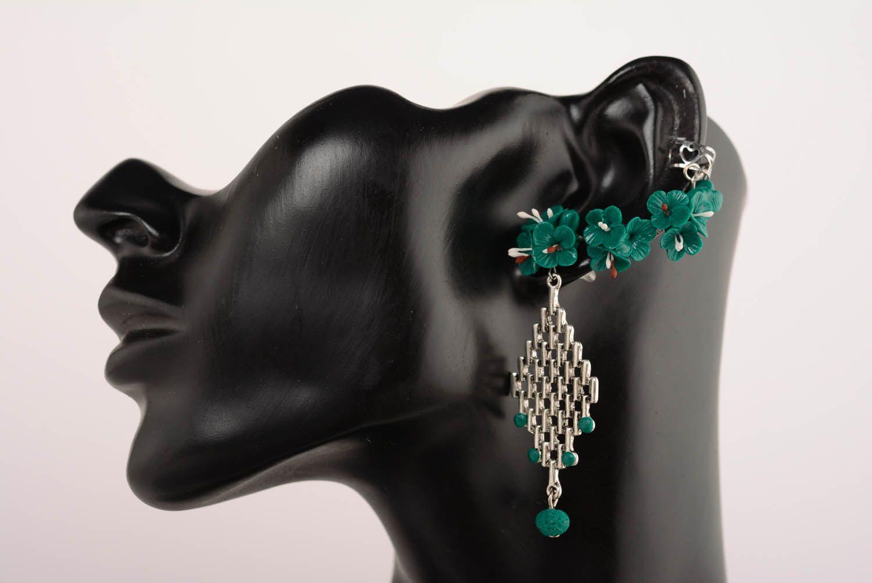 Cuff earrings Emerald photo 1