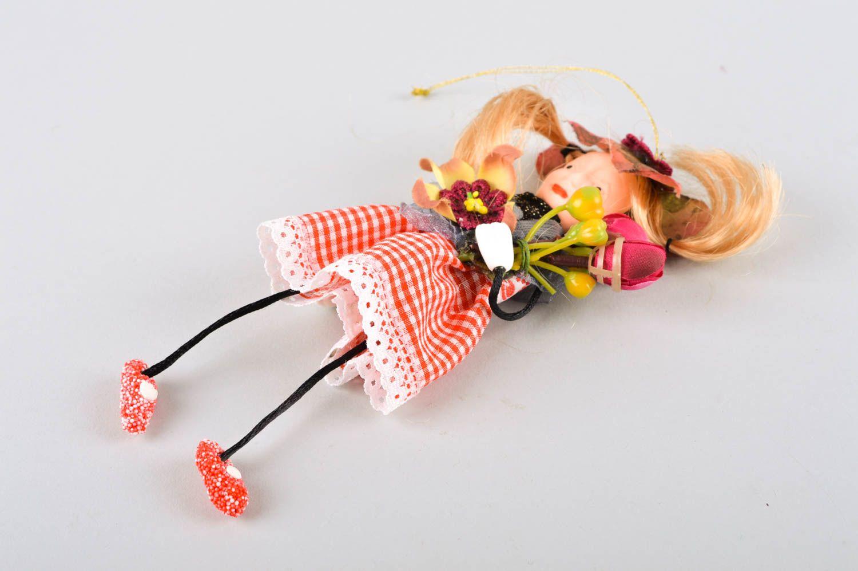 Unusual handmade rag doll collectible dolls nursery design decorative use only photo 4