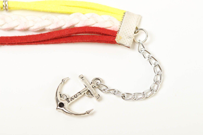 Unusual handmade leather bracelet wrist suede bracelet cool jewelry designs photo 3