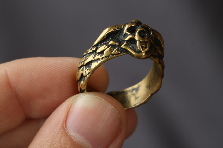 Handgemachter Ring aus Bronze foto 3