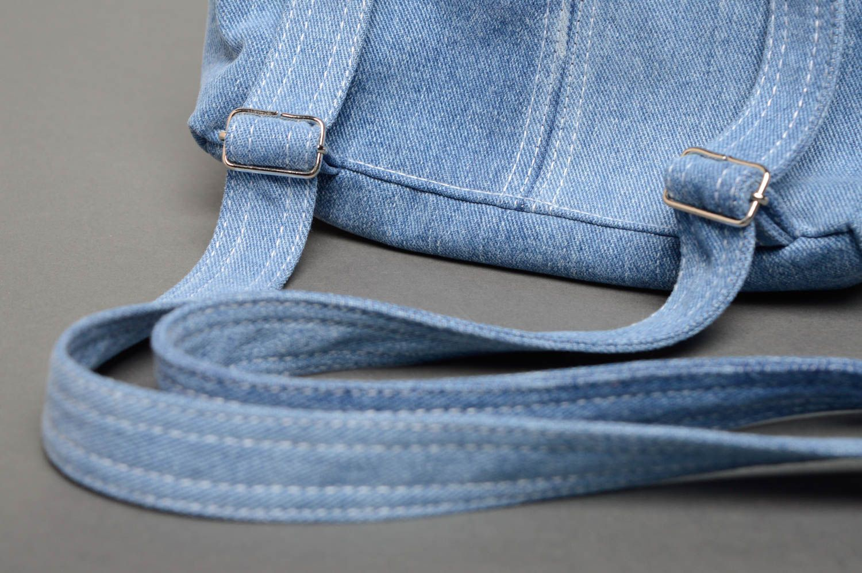 madeheart petit sac dos femme en jean fait main. Black Bedroom Furniture Sets. Home Design Ideas