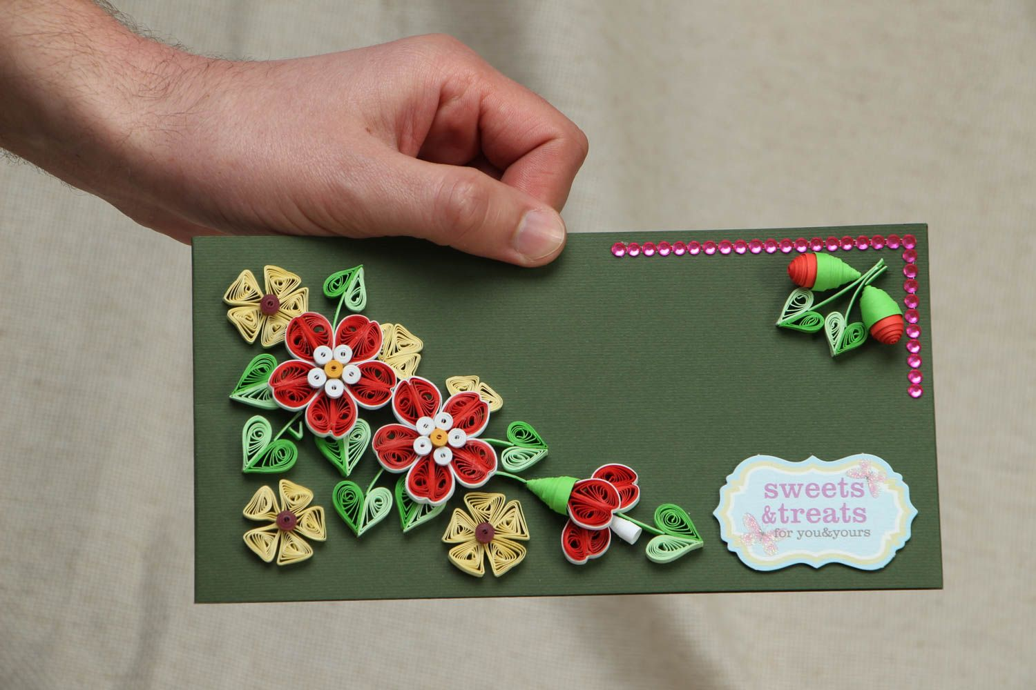 Quilling greeting card photo 4