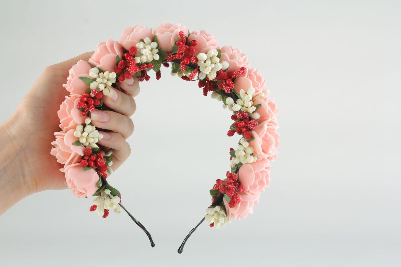 Цветов маме, обручи из цветов купить киев