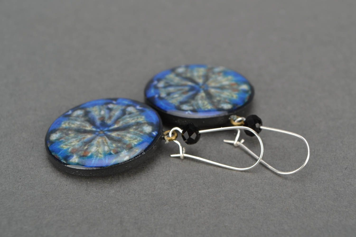 Earrings with author's image photo 4