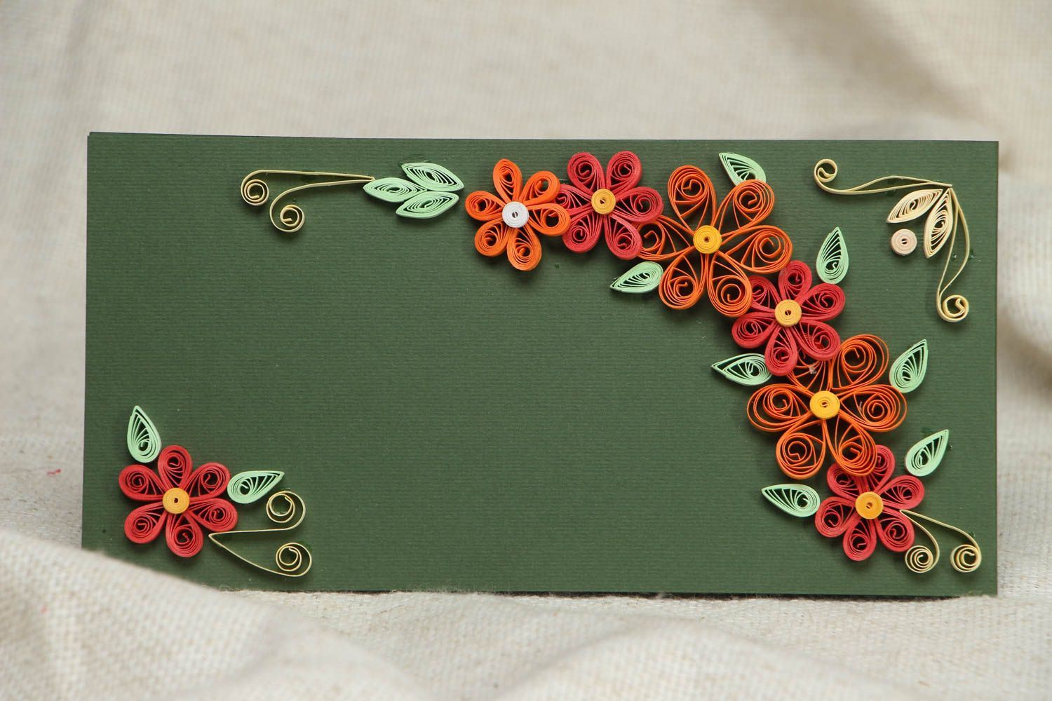 Handmade quilling greeting card photo 1