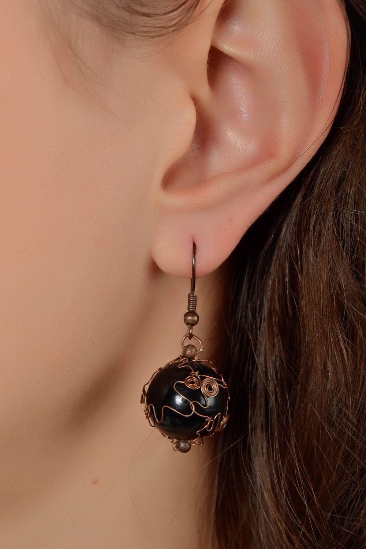 Copper earrings  photo 5
