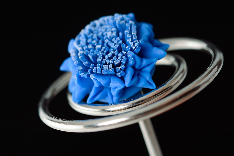Designer flower brooch photo 1