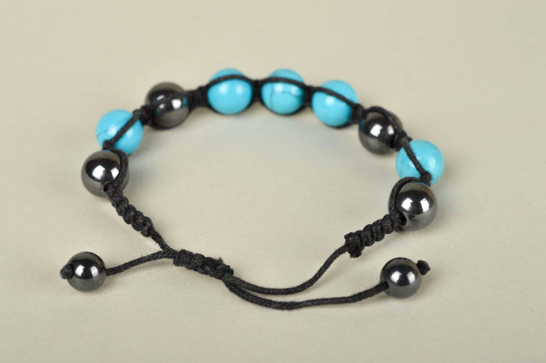 pulseras shambala Pulsera de piedras naturales bisutería artesanal pulseras de cuentas azules , MADEheart.com
