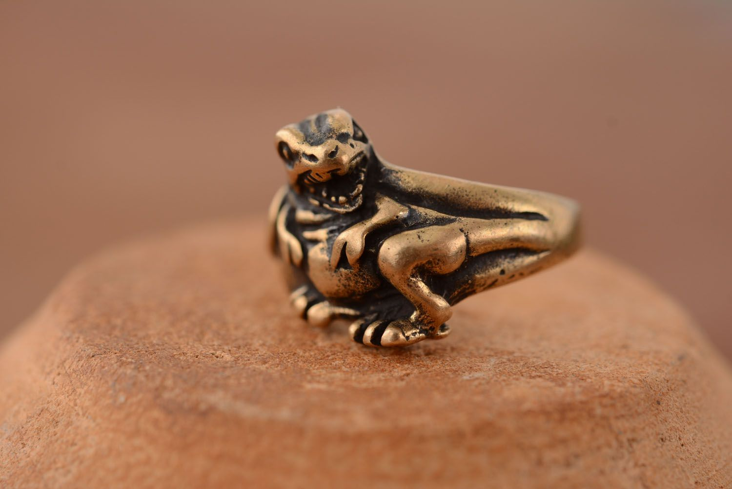 Bronze seal ring Dragon photo 2