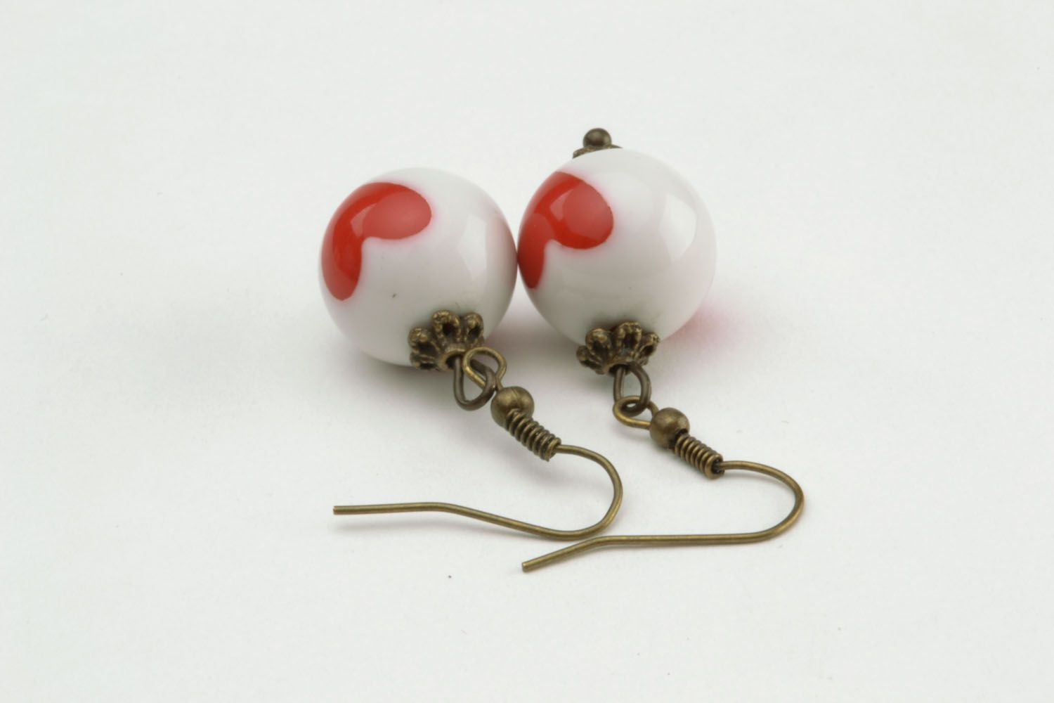 Dangle earrings made of polymer clay photo 5
