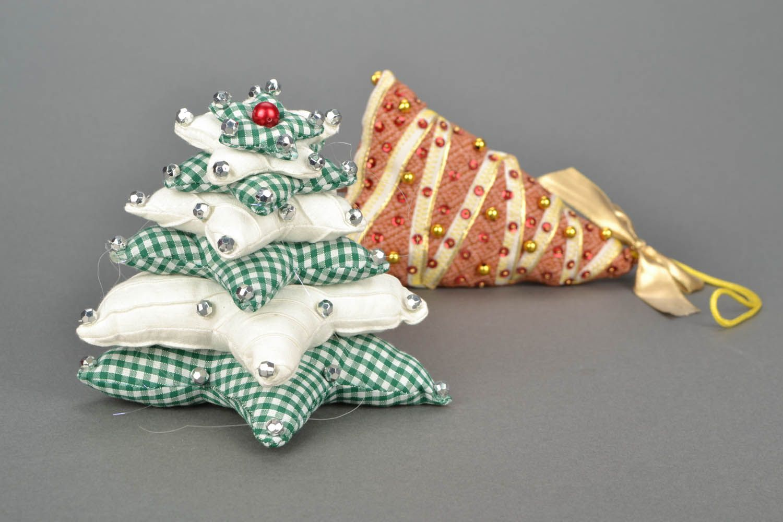 Новогодние игрушки с ткани своими руками