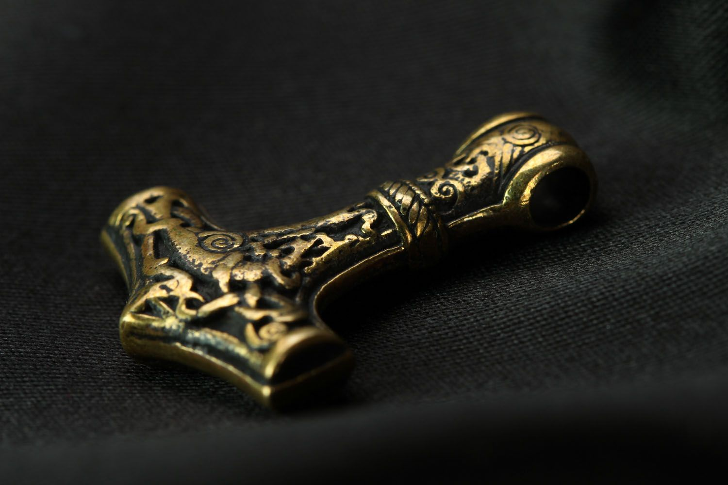 Bronze pendant Thor's Hammer photo 2