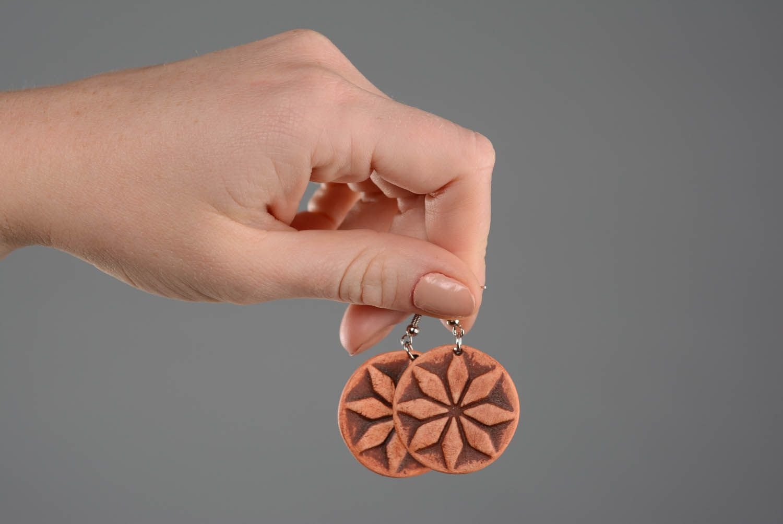 Clay earrings Female Alatyr photo 2