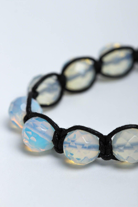 Handmade bracelet beaded bracelet gemstone jewelry designer accessories photo 3