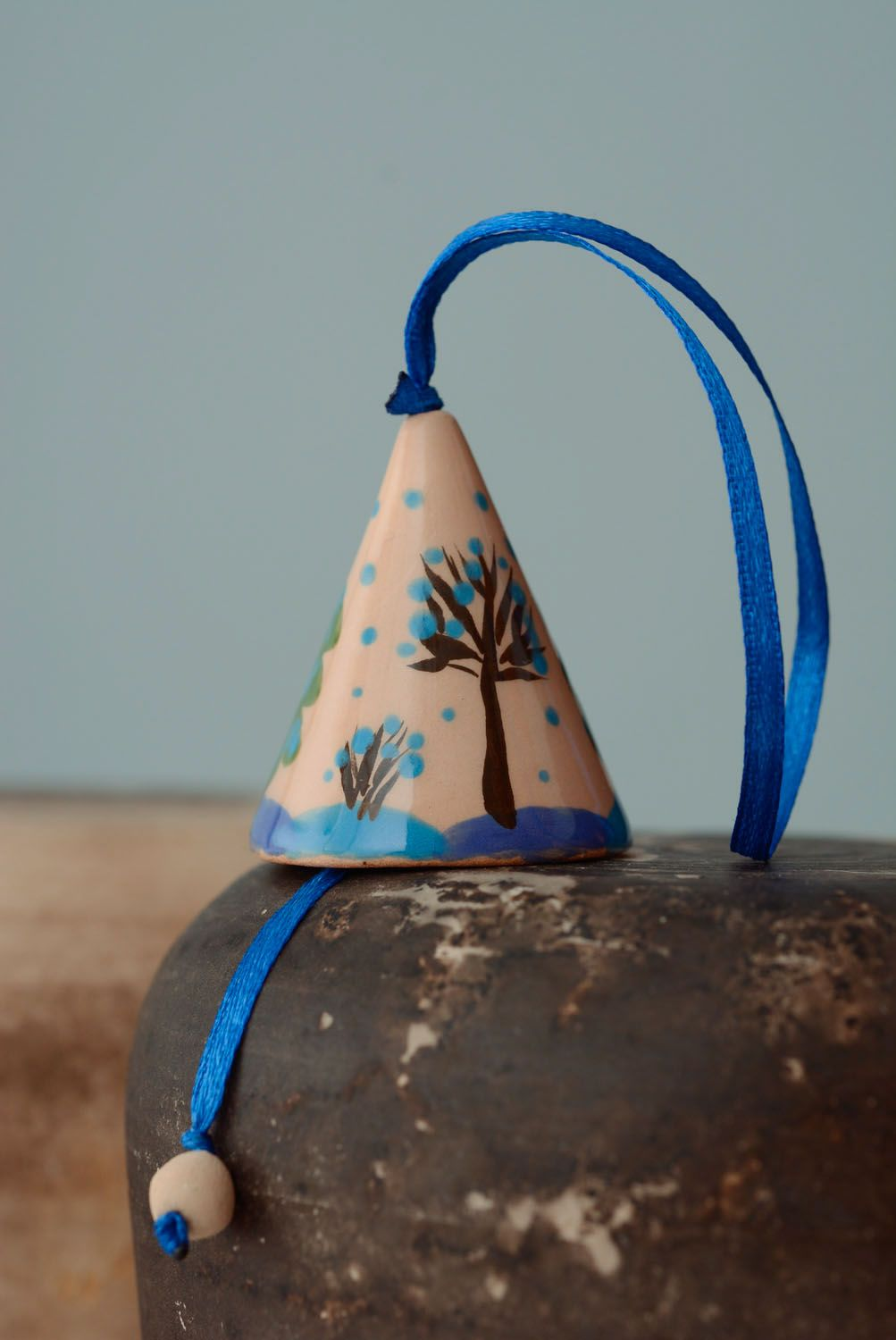 Decorative ceramic bell photo 1
