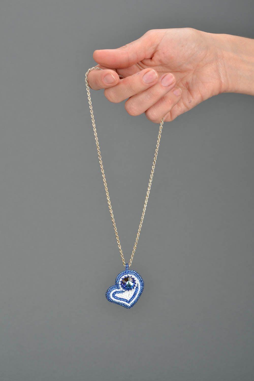 Handmade blue pendant photo 2